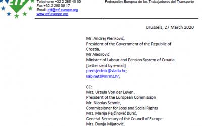 ETF – Europska federacija radnika u transportu zahtjeva odustajanje Vlade RH od neprimjerene zakonske inicijative