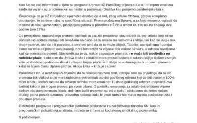 Poslovanje društva HŽ Putnički prijevoz u doba pandemije