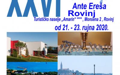 Memorijal Ante Ereš, 2020